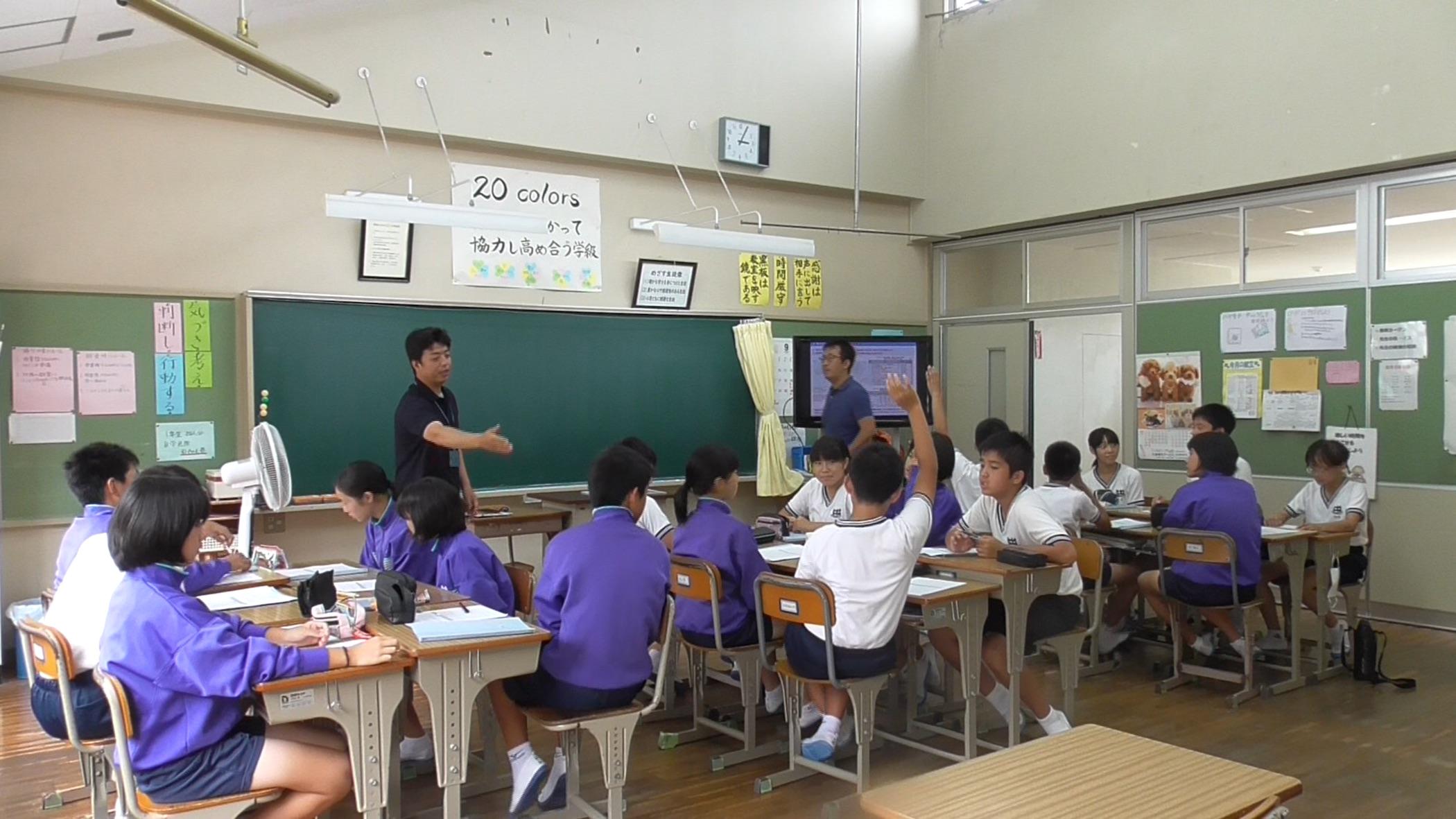 対馬市立比田勝中学校での海ごみ総合学習