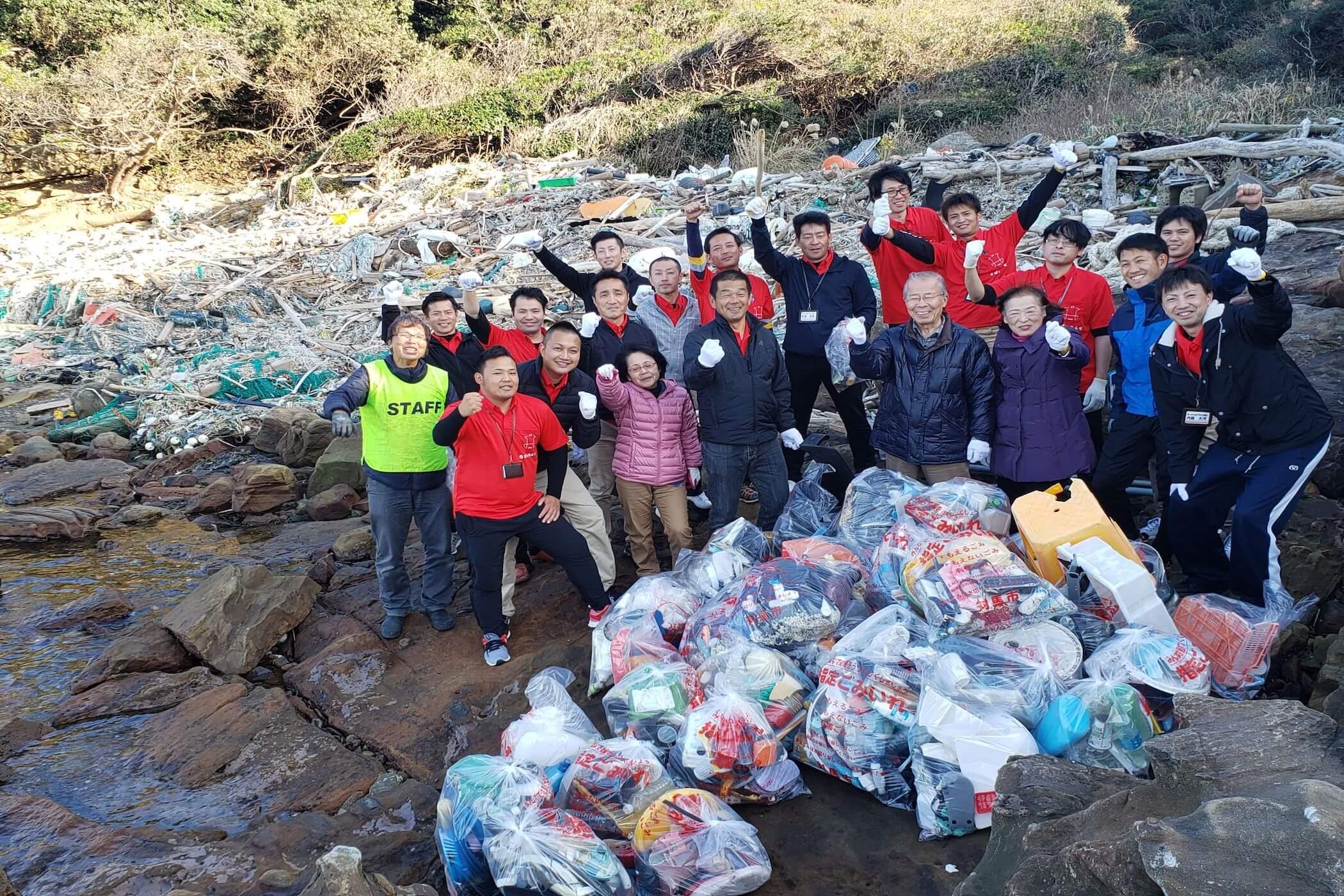 志ネットワーク青年塾の海岸清掃活動